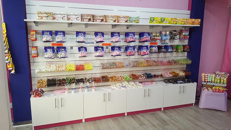 Negozi di caramelle dolciumi articoli per le feste e gadget for Arredamenti caramel