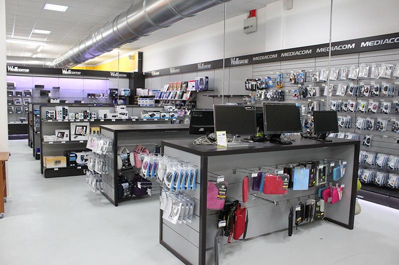 Arredamento per negozi di informatica arredo negozio computer for Negozi arredamento modena