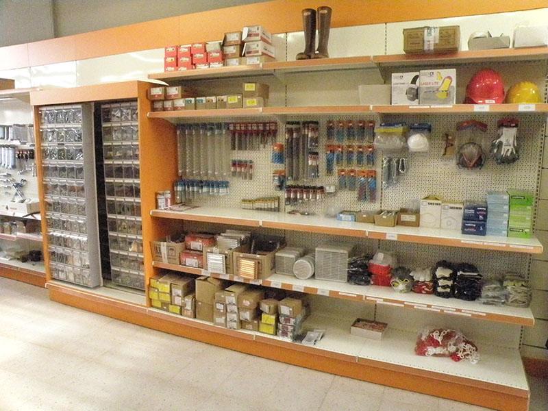 Arredamento per negozi di ferramenta, arredo negozio